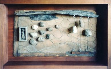 Drift wood and Pumice stone.