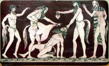 Satyrs at a party.