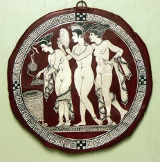 The three graces at their toilet.